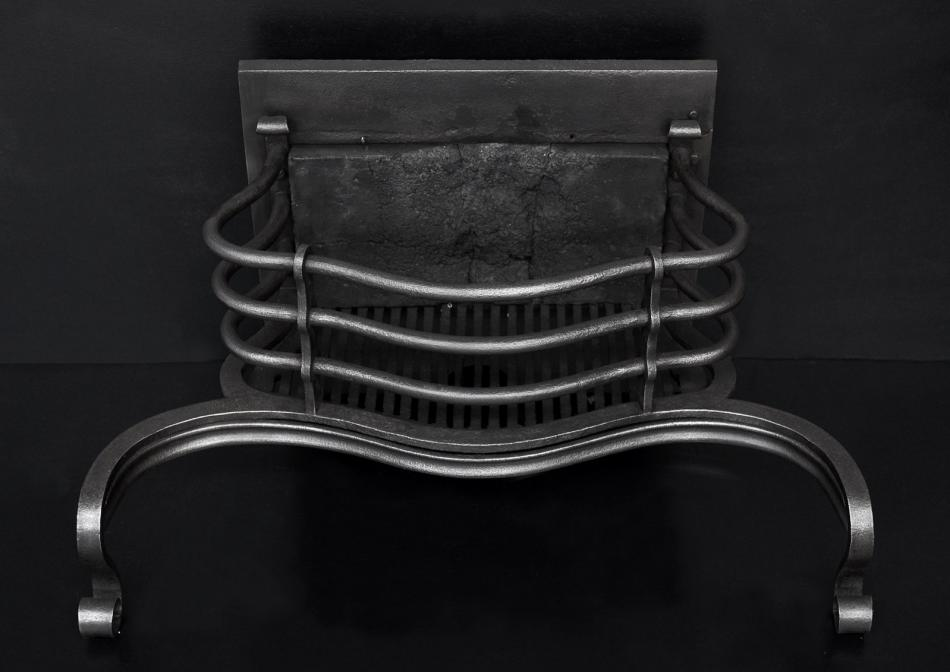 A shaped cast iron firebasket