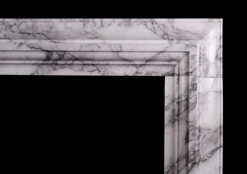 A Stylish Italian fireplace in Arabescato marble