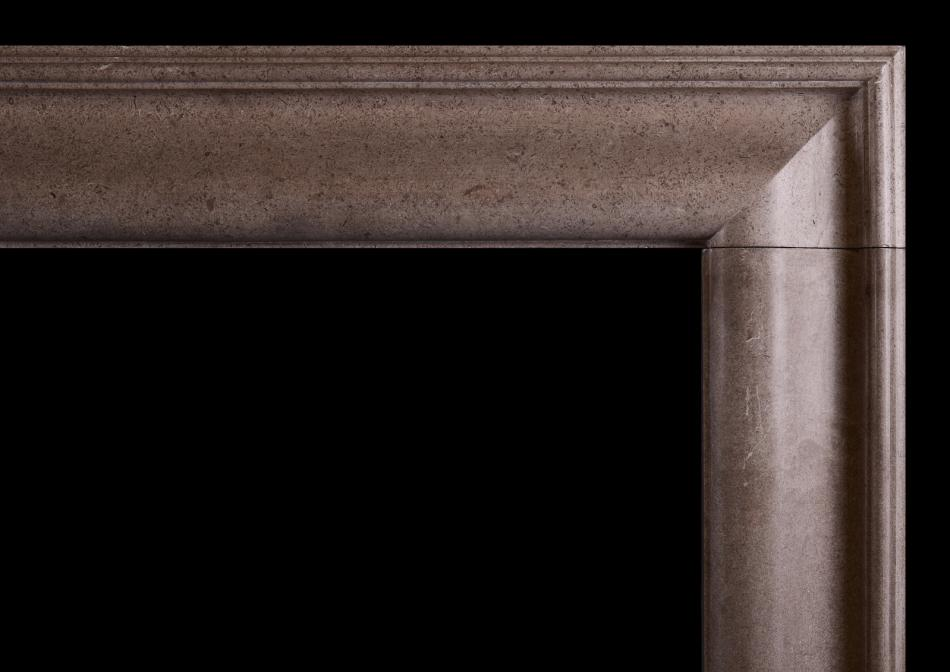 A Hopton Wood stone bolection fireplace