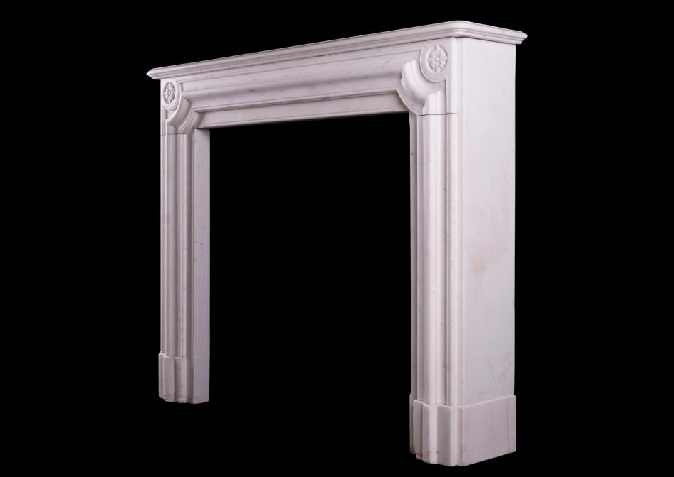 An English Regency Statuary marble fireplace