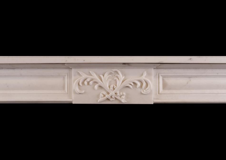 A French Louis XVI Statuary marble fireplace
