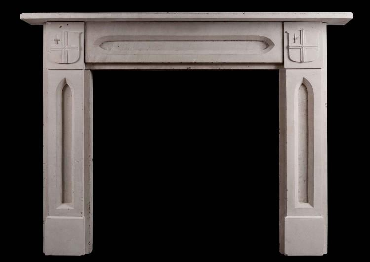An English stone fireplace – Gothic