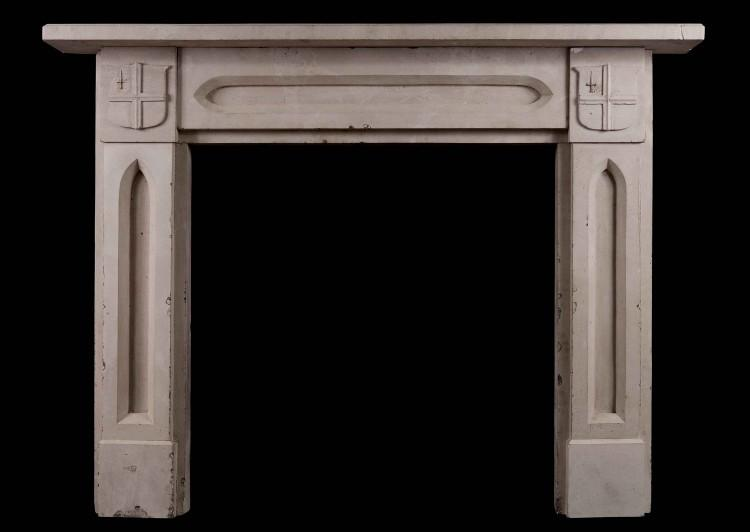 An English stone fireplace – Gothic style