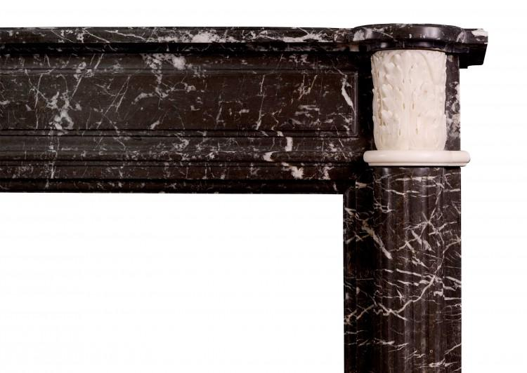 AN ANTIQUE FRENCH LOUIS XVI STYLE ST ANNE'S DES PYRENEES MARBLE FIREPLACE-Detail1