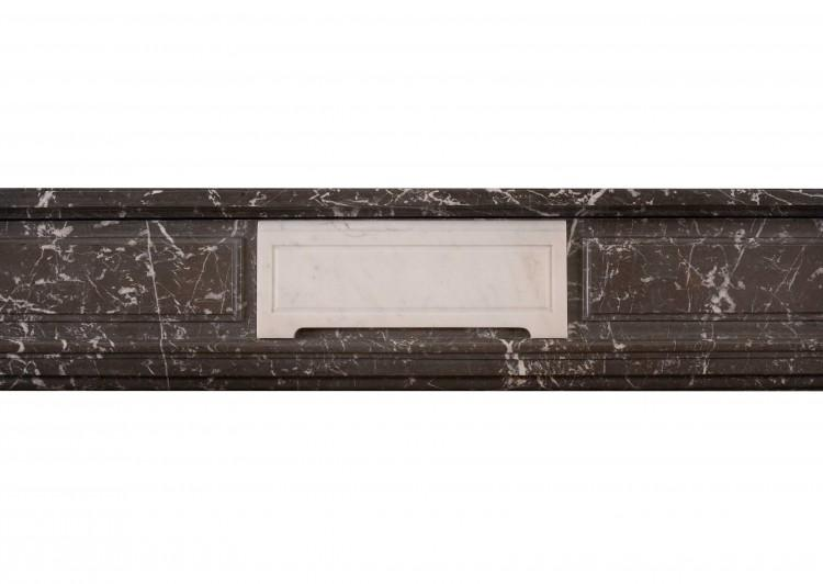 AN ANTIQUE FRENCH LOUIS XVI STYLE ST ANNE'S DES PYRENEES MARBLE FIREPLACE-Detail2