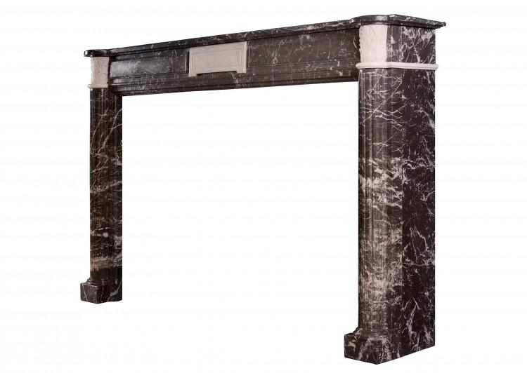 AN ANTIQUE FRENCH LOUIS XVI STYLE ST ANNE'S DES PYRENEES MARBLE FIREPLACE-Detail3