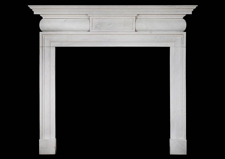 A White marble chimneypiece in the mid Georgian style