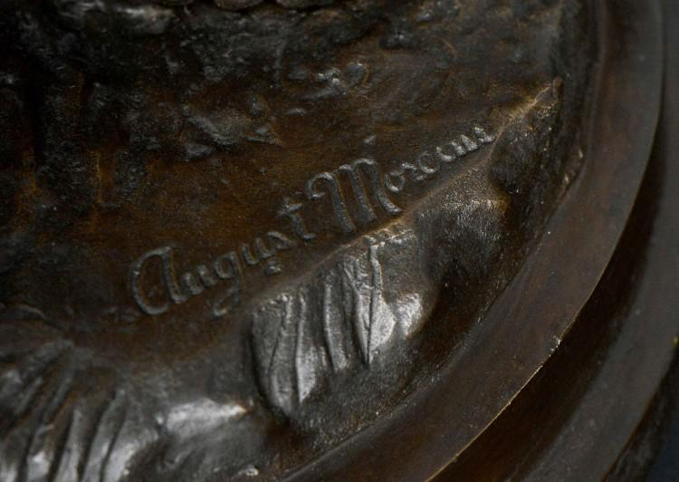 A LARGE BRONZE SCULPTURE BY WELL KNOWN PARISIAN ARTIST AUGUST MOREAU-Detail4