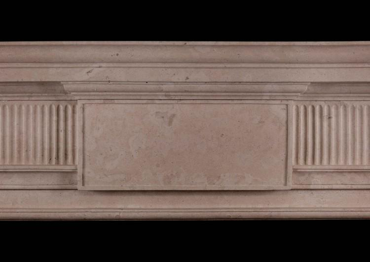 A GEORGE II STYLE LINCOLN STONE FIREPLACE-Detail2