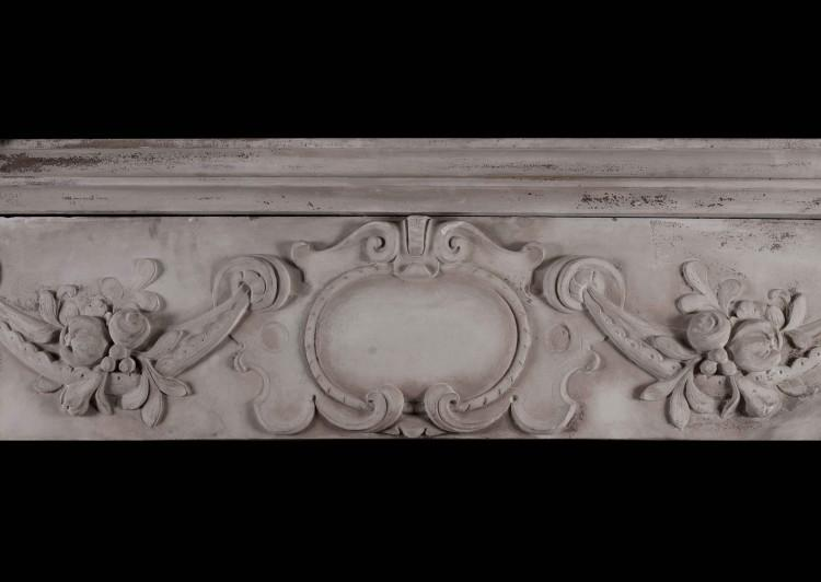 A CARVED STONE RENAISSANCE FIREPLACE, 19TH CENTURY-Detail4