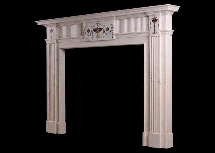 An Irish Statuary marble fireplace in the manner of Pietro Bossi