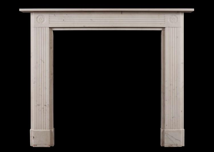 A Statuary marble Regency antique fireplace