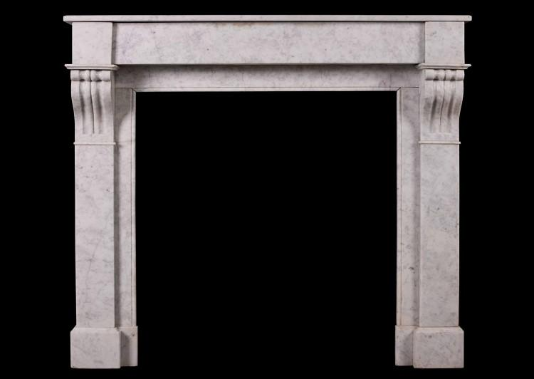 A French, Louis Philippe Carrara marble fireplace