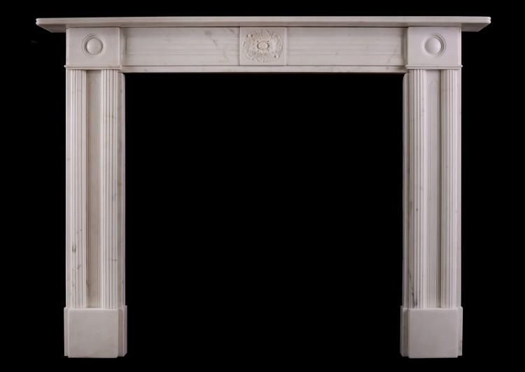 A period Statuary marble Regency fireplace