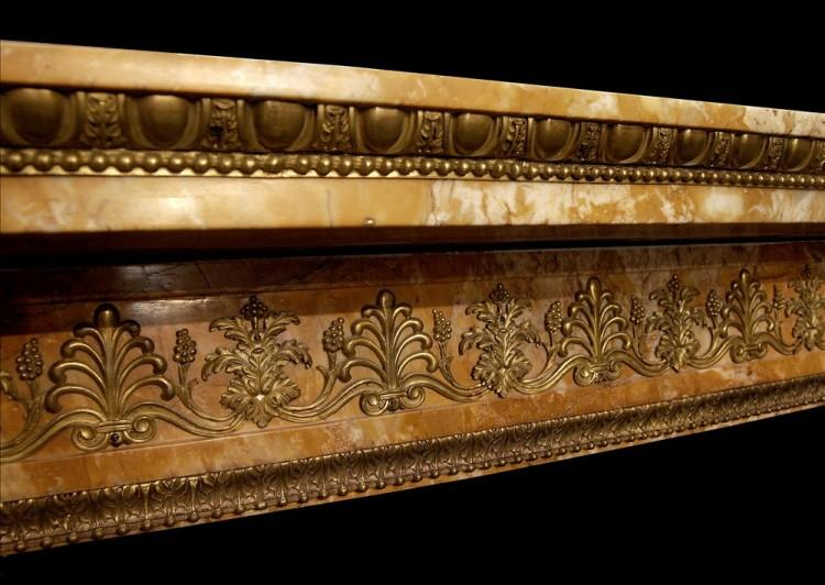 AN IMPORTANT EARLY FRENCH NAPOLEONIC EMPIRE SIENNA MARBLE FIREPLACE-Detail2