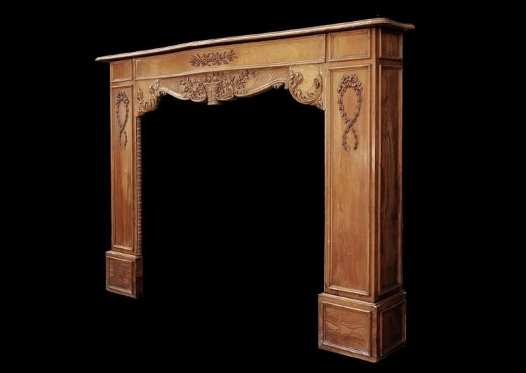 A LATE 19TH / EARLY 20TH CENTURY ENGLISH CARVED WOOD FIREPLACE-Detail3