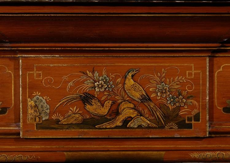 A 19TH CENTURY ENGLISH JAPANNED WOOD FIREPLACE-Detail1