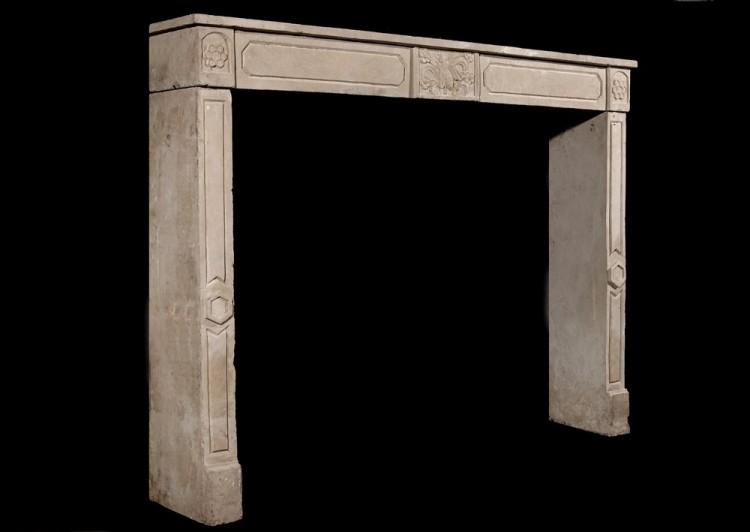 AN EARLY 19TH CENTURY FRENCH EMPIRE LIMESTONE FIREPLACE-Detail3