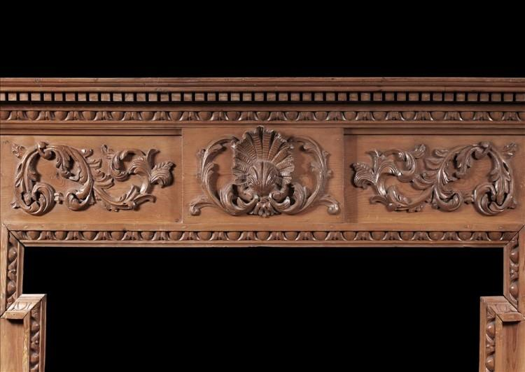 AN ENGLISH CARVED PINE FIREPLACE-Detail1