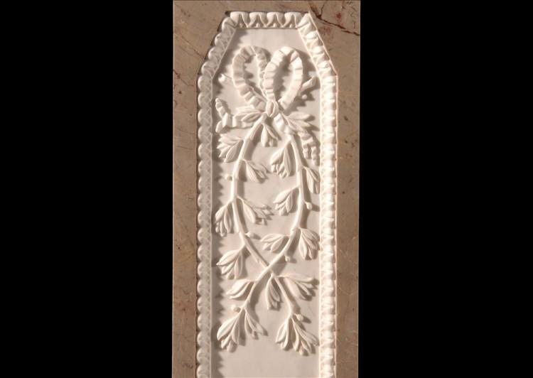 A SARRANCOLIN FRENCH LOUIS XVI STYLE MARBLE FIREPLACE-Detail3