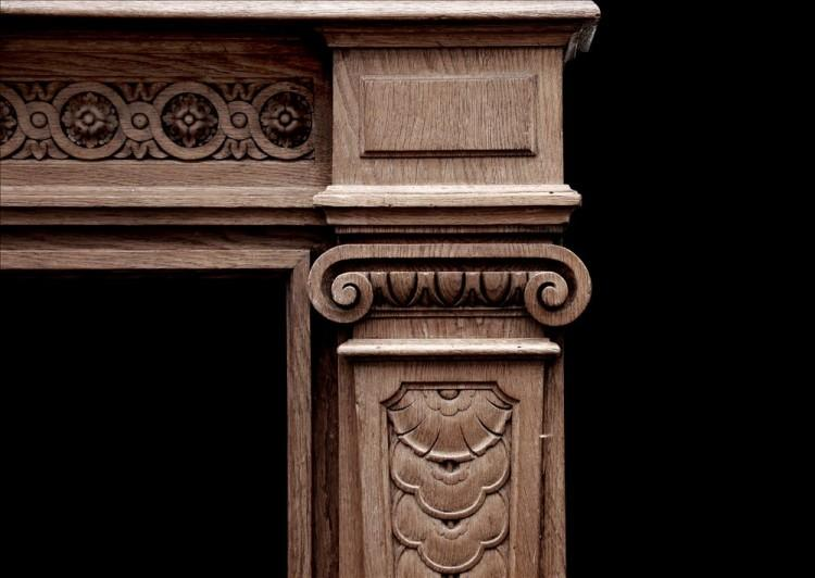 A 19TH CENTURY ANTIQUE FRENCH OAK FIREPLACE-Detail3