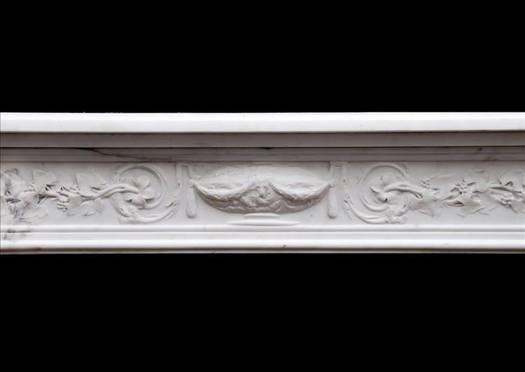 A PERIOD 18TH CENTURY FRENCH LOUIS XVI STATUARY MARBLE FIREPLACE-Detail2