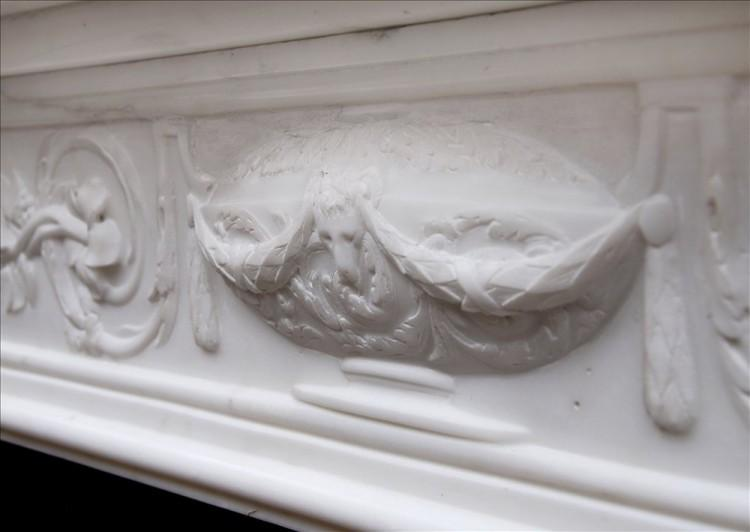A PERIOD 18TH CENTURY FRENCH LOUIS XVI STATUARY MARBLE FIREPLACE-Detail4