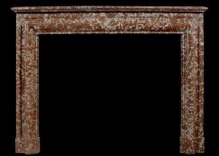 A 19TH CENTURY ENGLISH ANTIQUE ROUGE ROYALE FIREPLACE