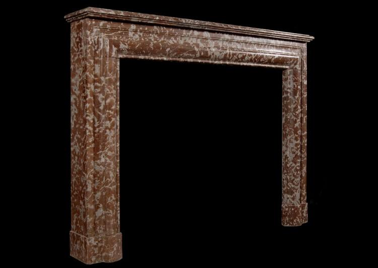 A 19TH CENTURY ENGLISH ANTIQUE ROUGE ROYALE FIREPLACE-Detail2