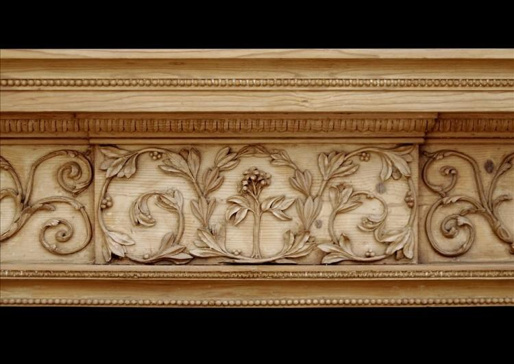 AN ATTRACTIVE 18TH CENTURY GEORGE III PINE FIREPLACE-Detail1