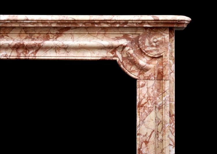 A FRENCH NAPOLEON III CHIMNEYPIECE IN BRECCIA PERNICE MARBLE-Detail1
