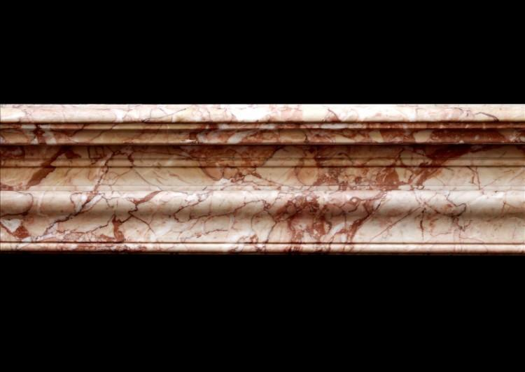 A FRENCH NAPOLEON III CHIMNEYPIECE IN BRECCIA PERNICE MARBLE-Detail2