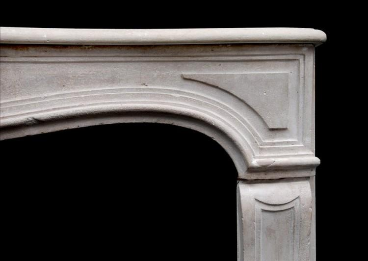 AN ATTRACTIVE 18TH CENTURY FRENCH LOUIS XV LIMESTONE FIREPLACE-Detail2