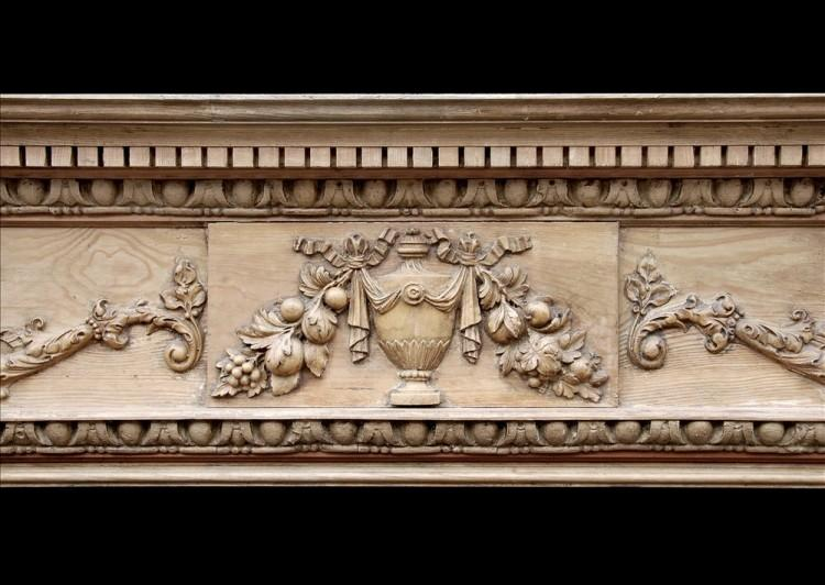 A ENGLISH GEORGIAN STYLE PINE FIREPLACE WITH GESSO ENRICHMENTS-Detail1