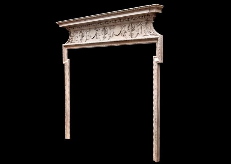 A DELICATE 18TH CENTURY ENGLISH PINE FIREPLACE-Detail3