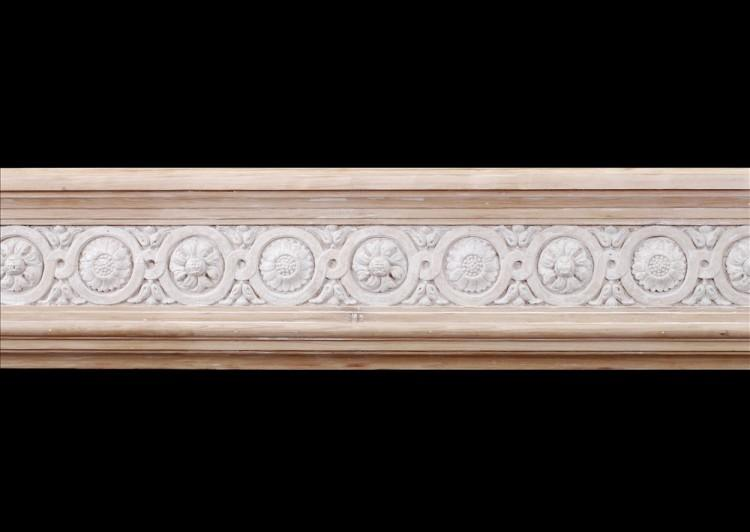 A FRENCH LOUIS XVI STYLE WOOD FIREPLACE WITH COMPOSITION ENRICHMENTS-Detail1