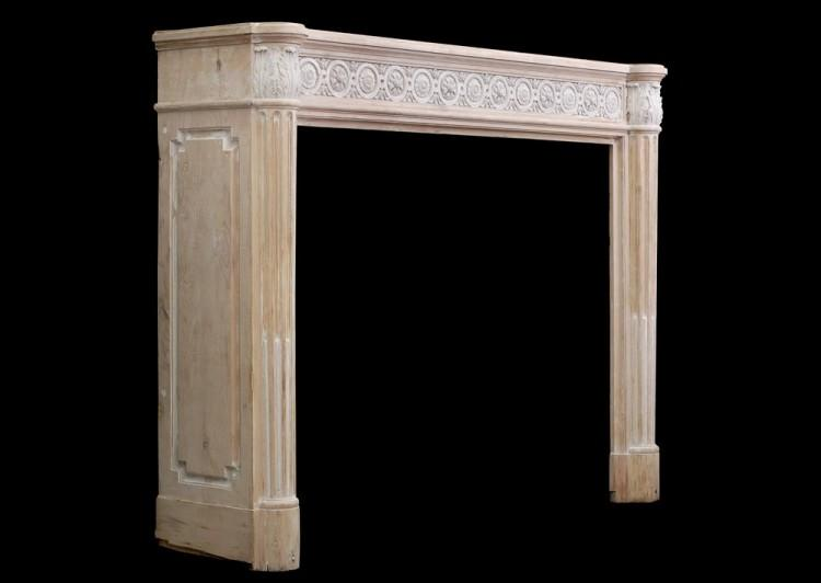 A FRENCH LOUIS XVI STYLE WOOD FIREPLACE WITH COMPOSITION ENRICHMENTS-Detail3