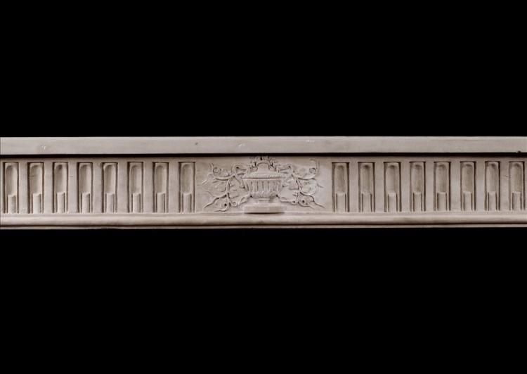 A FINE QUALITY PERIOD FRENCH LOUIS XVI STYLE LIMESTONE FIREPLACE-Detail1