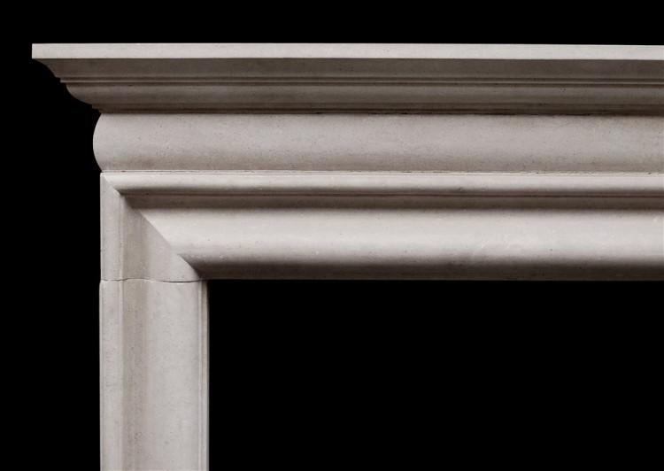 AN EARLY GEORGIAN STYLE PORTLAND STONE FIREPLACE-Detail1