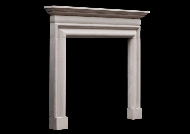 AN EARLY GEORGIAN STYLE PORTLAND STONE FIREPLACE-Detail2
