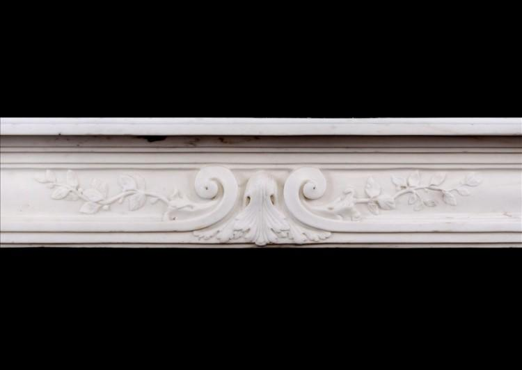 A LATE 18TH CENTURY LOUIS XVI STATUARY MARBLE FIREPLACE-Detail1