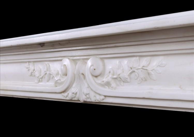 A LATE 18TH CENTURY LOUIS XVI STATUARY MARBLE FIREPLACE-Detail4