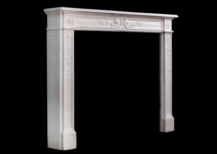 A LATE 18TH CENTURY LOUIS XVI STATUARY MARBLE FIREPLACE-Detail5
