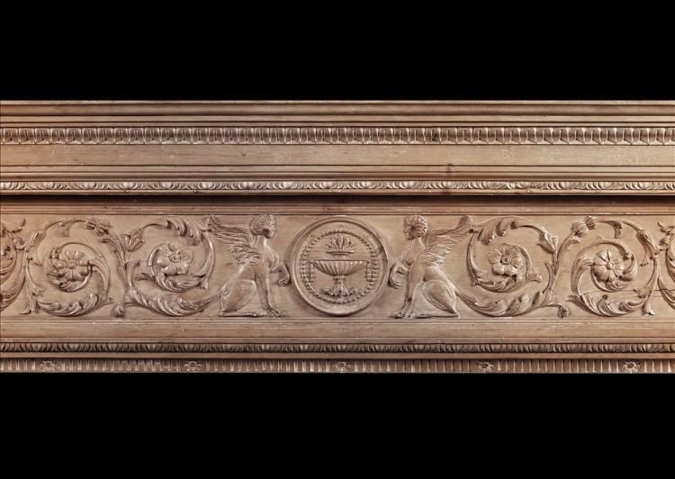 AN IMPOSING PERIOD ENGLISH ANTIQUE REGENCY PINE FIREPLACE-Detail1