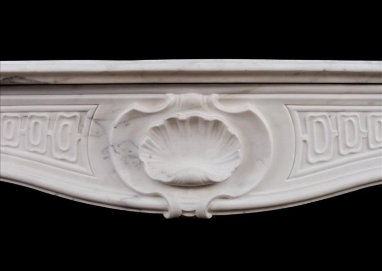 A QUALITY 18TH CENTURY ANTIQUE ITALIAN FIREPLACE IN STATUARY MARBLE-Detail2