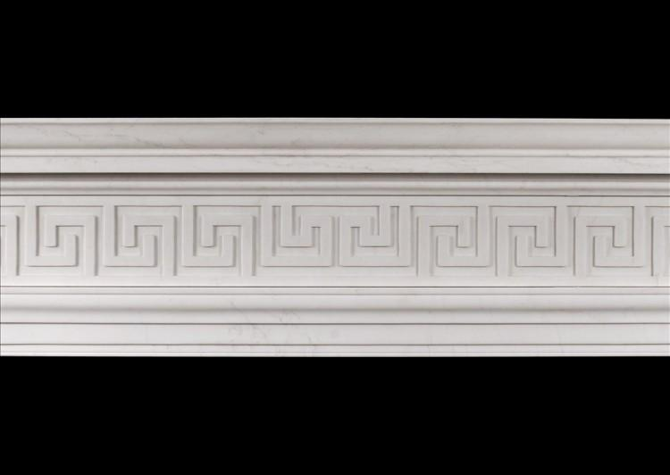 AN ENGLISH REGENCY STYLE FIREPLACE WITH GREEK KEY PATTERN-Detail2