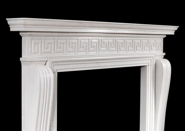 AN ENGLISH REGENCY STYLE FIREPLACE WITH GREEK KEY PATTERN-Detail3