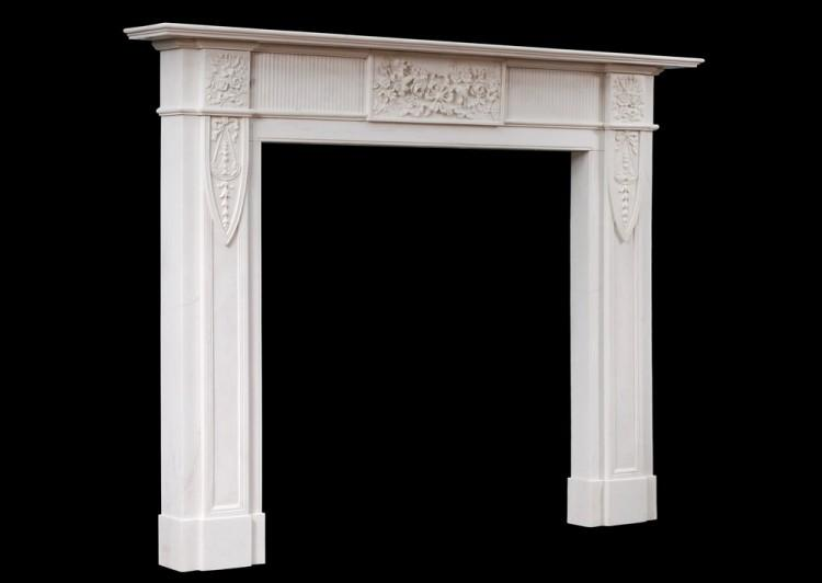 AN ENGLISH MARBLE FIREPLACE IN THE GEORGIAN STYLE-Detail4