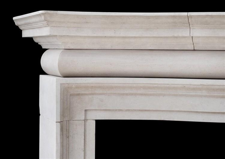 A LARGE AND IMPOSING ENGLISH PORTLAND STONE FIREPLACE-Detail1