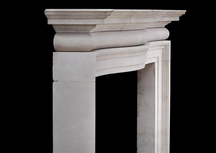 A LARGE AND IMPOSING ENGLISH PORTLAND STONE FIREPLACE-Detail4